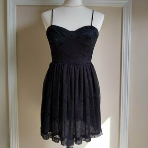 LBD Little Black Dress Lace Bustier Baby Doll